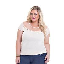 Blusa Plus Size Fio Luréx