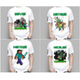 Camiseta Infantil Game Minecraft Steve Creeper Enderman