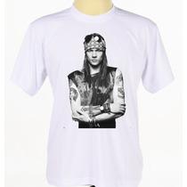 Camiseta Camisa Cantor Banda Hard Rock Guns N Roses Axl Rose