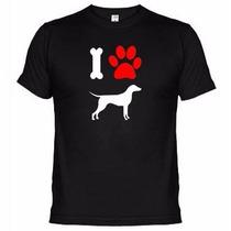 Camisetas Engraçadas Eu Amo Cachorro