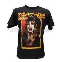 Camisa De Manga Curta Rock Banda Ozzy Speak Of The Devil