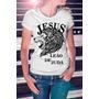 Camisa Estampa Feminina Jesus Leões De Judá Evangélica