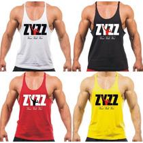 Combo 4x Camisetas Regatas Super Cavada Musculação Zyzz