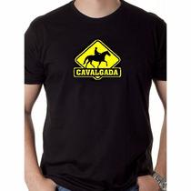 Camisa Cavalgada Camiseta Blusa Malha Pv Diversas Cores