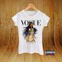 Camiseta Babylook Vogue Pocahontas Princesa Disney Clássicos
