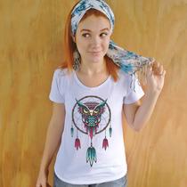 Camiseta Feminina Filtro Coruja