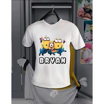 Camisa Minions Com Nome Disney Meu Malvado Favorito Oficial