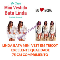 Vestidocrochet Tricot Batablusa Mini Veste Panicat