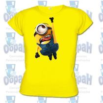 Camiseta Minions Personalizada Babylook Promoção Fretegrátis