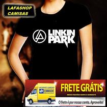 Camiseta Linkin Park Baby Look Feminina Banda Rock Mulher