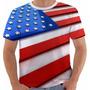 Camiseta Usa 16 Estados Unidos America Eua Bandeira 3 D