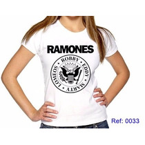 T-shirts Feminina Ramones Rock Camisetas Personalizadas