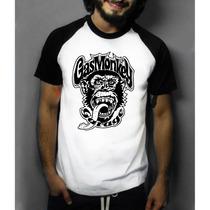 Camiseta Raglan Manga Curta Gás Monkey
