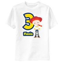 Camiseta Toy Story Jessie Aniversário Personalizada