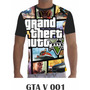Camisa Camiseta Games Personalizada Gta V Ps3 Ps4