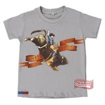 Camiseta Infantil Goods For Cowboys Cinza 100% Algodão - Smi