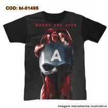 Camiseta - Capitão America Vs Homem De Ferro Guerra Civil -2