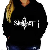 Blusa Moletom Slipknot Unissex Capuz Bolso Banda Camisa Rock