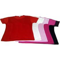 Camiseta Baby Look100% Algodão-kit C/10 Peças Frete Grátis