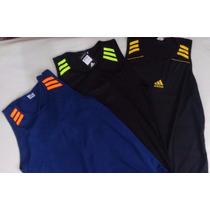 Kit 3 Camisetas Regatas Adidas Masculina Academia E Corrida