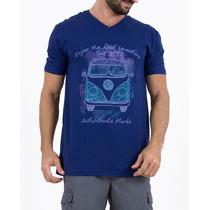 Camiseta Kombi Malha Flamê E Decote V