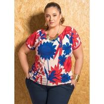 Blusa Plus Size Feminina ( Roupa Gordinha ) Estampado