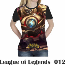 Camiseta Blusa Games League Of Legends Feminina Lol 012