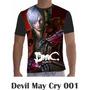 Camisa Camiseta Games Personalizada Devil May Cry Ps3
