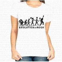 Camiseta Mais Barata Do Ml Feminina Evolution Of Rock
