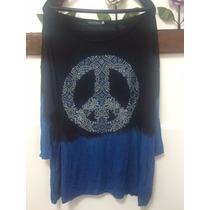 Camiseta Blusa Tie Dye Paz E Amor Plus Size