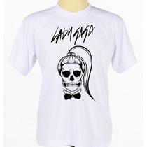 Camisa Camiseta Personalizada Lady Gaga Babylook Manga Curta