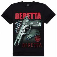 Lançamento 2015 Camisetas Camisa 3d Pistola Beretta