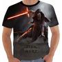 Camisa Camiseta Star Wars Kylo Ren Guerra Nas Estrelas
