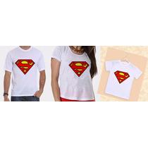 Camisetas Pai, Mãe E Filho (a) Carnaval Super Homem