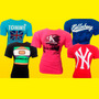 Camisetas Grifes Atacado - Kit Com 3 Unidades + 91 Modelos