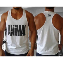 Camiseta Regata Animal Pak Golds Gym Zyzz Arnold P4rra Gain