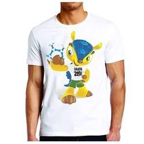 Presente! Camiseta Fuleco Copa Do Mundo No Brasil 2014