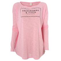 Camiseta De Manga Longa Feminina Abercrombie & Fitch Fly Pnk
