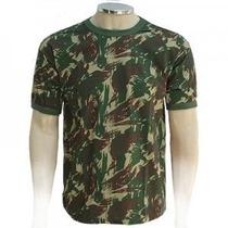 Camiseta Camuflada Exército 100% Algodão