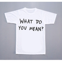 Camiseta What Do You Mean Justin Bieber Pop