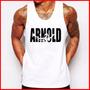 Camiseta Regata Masculina Arnold Schwarzenegger Academia
