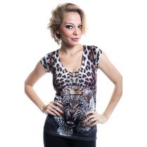 Camiseta Feminina Importada Eua - Estampa Tigre Ref. 1512