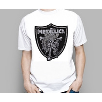 Camiseta Banda De Rock Metal Metallica Vários Modelos