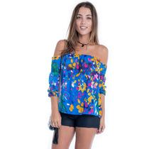Blusa Ciganinha De Chiffon - Kam Bess - Bl2042