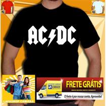 Camiseta Ac Dc Camisa Bandas Nirvana Guns Ramones Charlie La