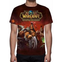 Camisa, Camiseta Game World Warcraft Warlords Of Draenor