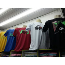Kit C/ 5 Camisetas-quiksilver.bila Bong Oakley.hurley,dc Etc