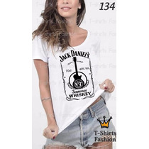 Camiseta T-shirt Daniels Fashion Feminino Blusa Baby Look
