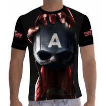 Camisa Camiseta Capitão América - Guerra Civil Mod. 2