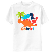 Camiseta Infantil Dinossauros Personalizada